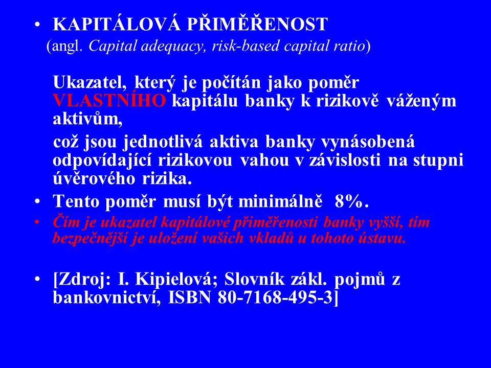 KAPITÁLOVÁ PŘIMĚŘENOST