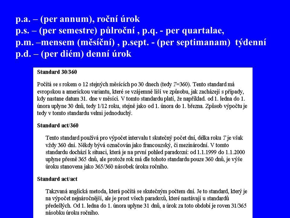 p.a. – (per annum), roční úrok