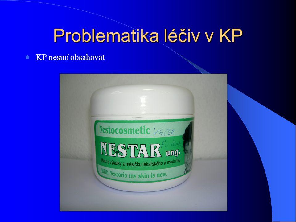 Problematika léčiv v KP