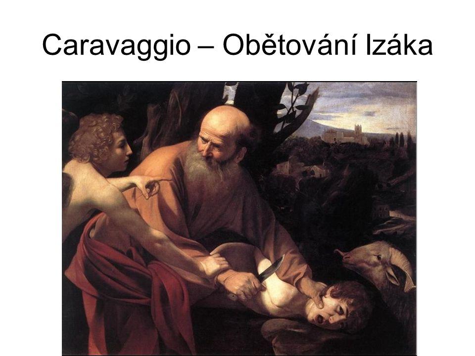 Caravaggio – Obětování Izáka