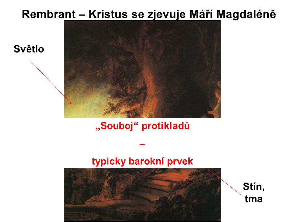 Rembrant – Kristus se zjevuje Máří Magdaléně