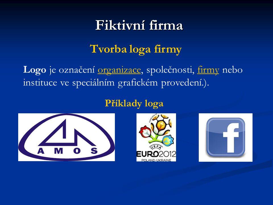 Fiktivní firma Tvorba loga firmy