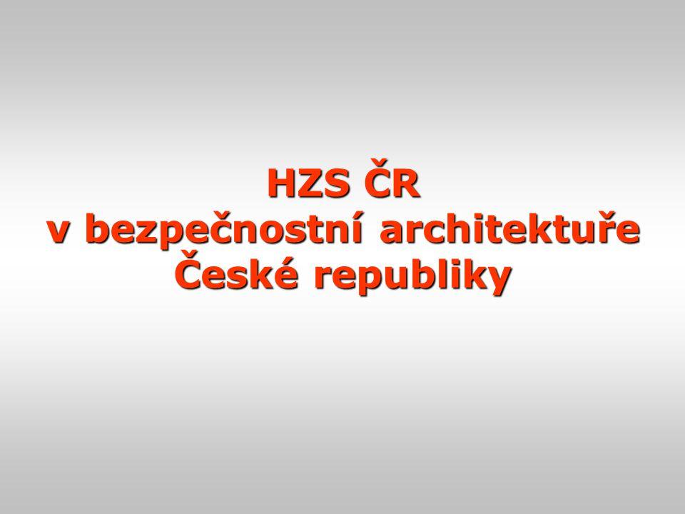 HZS ČR v bezpečnostní architektuře