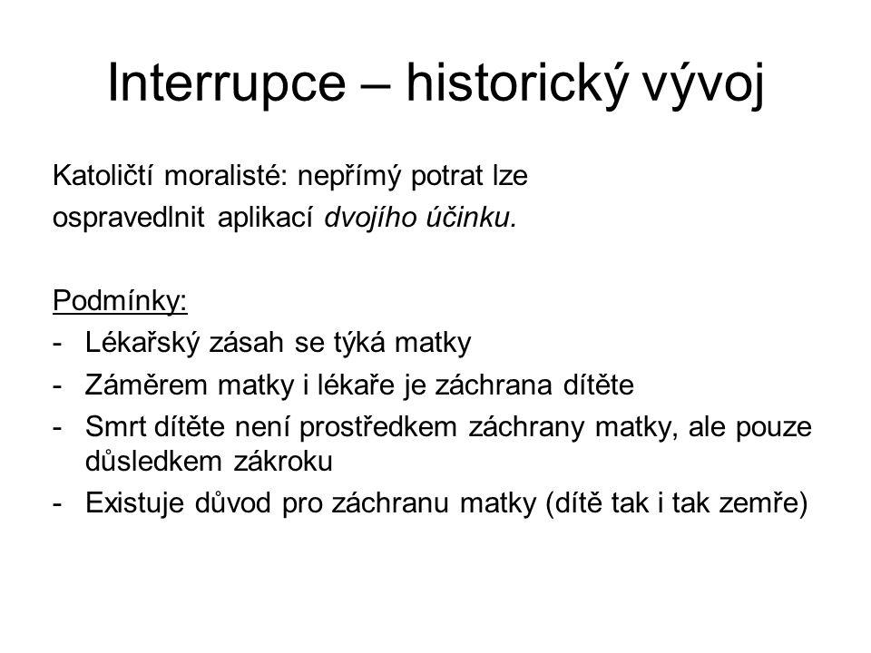 Interrupce – historický vývoj