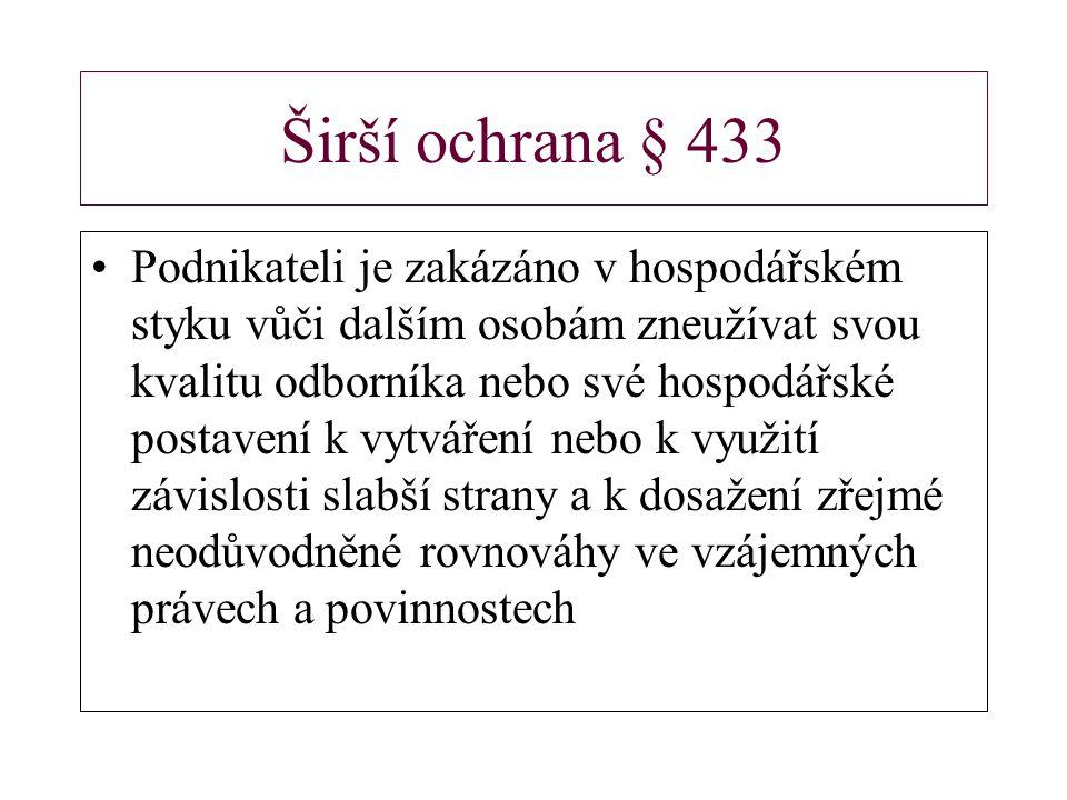 Širší ochrana § 433