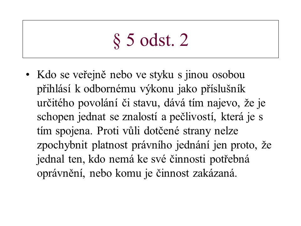§ 5 odst. 2