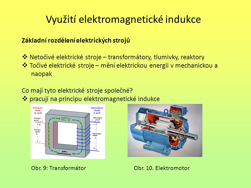 Využití elektromagnetické indukce