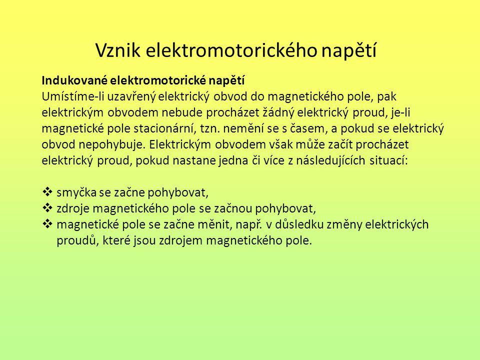 Vznik elektromotorického napětí