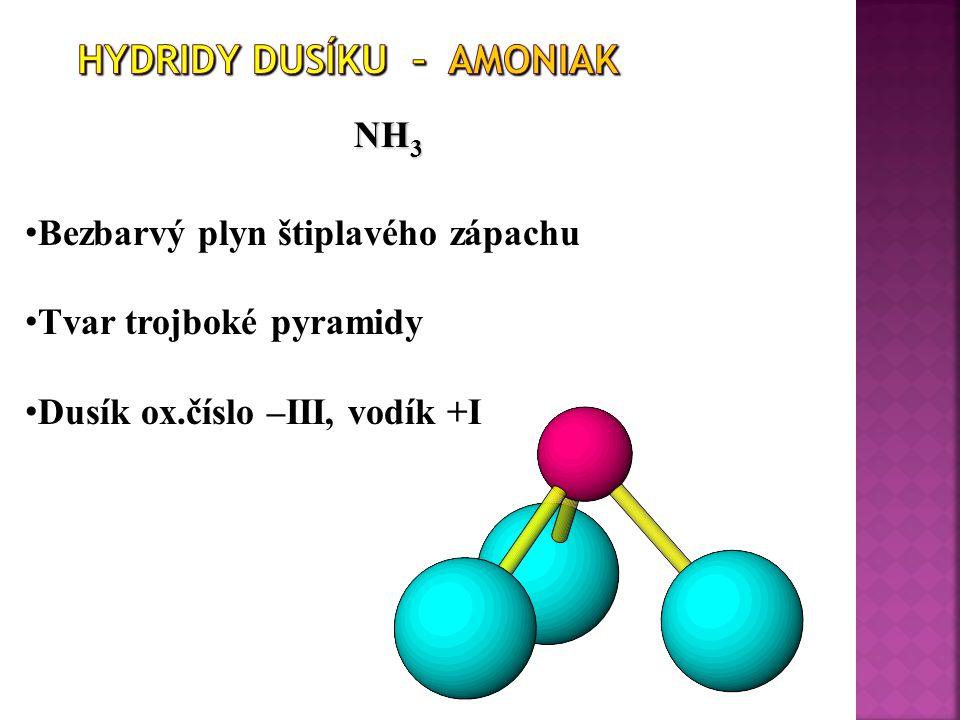 Hydridy dusíku – Amoniak