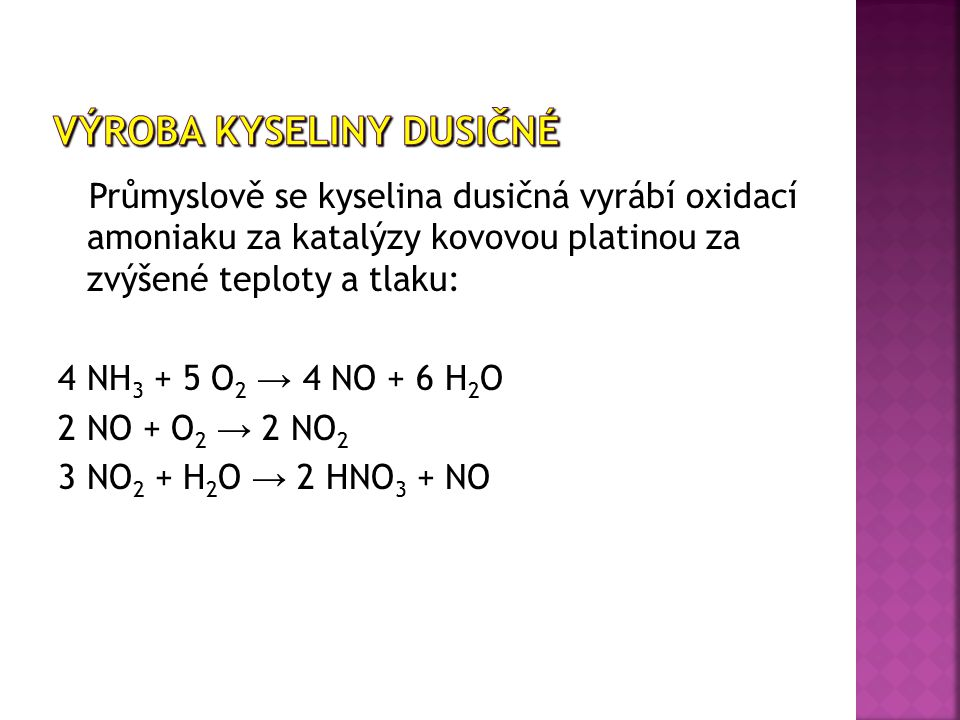 Výroba Kyseliny dusičné
