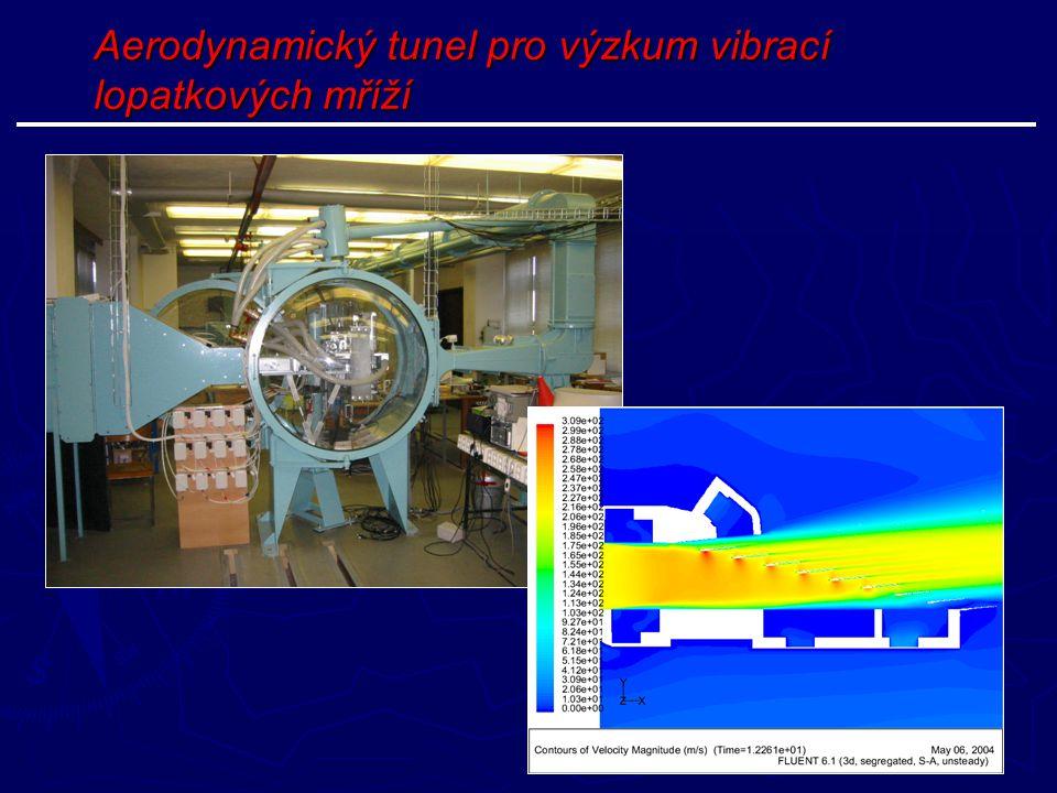 Aerodynamický tunel pro výzkum vibrací lopatkových mříží