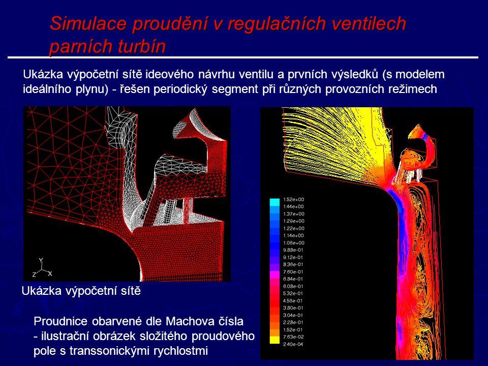 Simulace proudění v regulačních ventilech parních turbín
