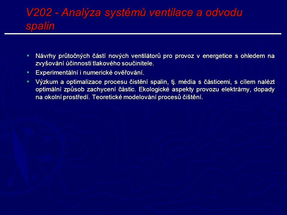 V202 - Analýza systémů ventilace a odvodu spalin
