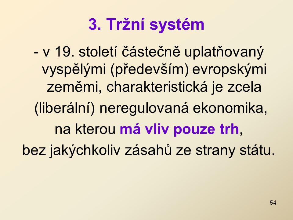3. Tržní systém