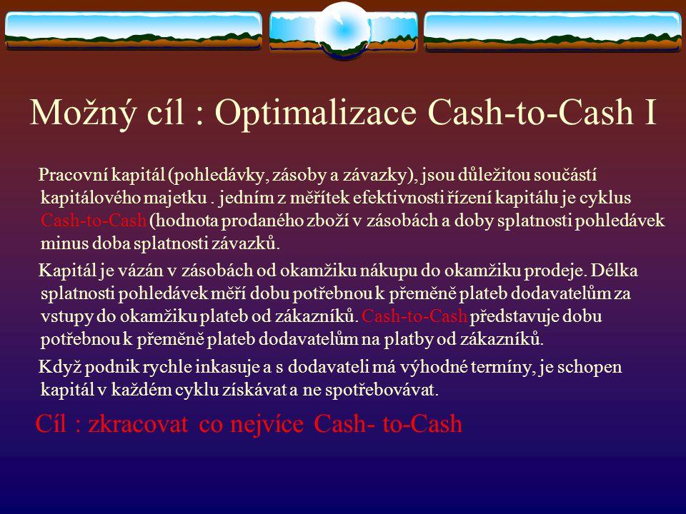 Možný cíl : Optimalizace Cash-to-Cash I