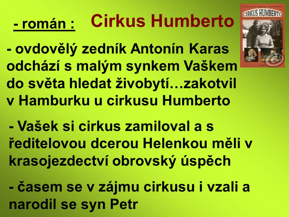Cirkus Humberto - román :