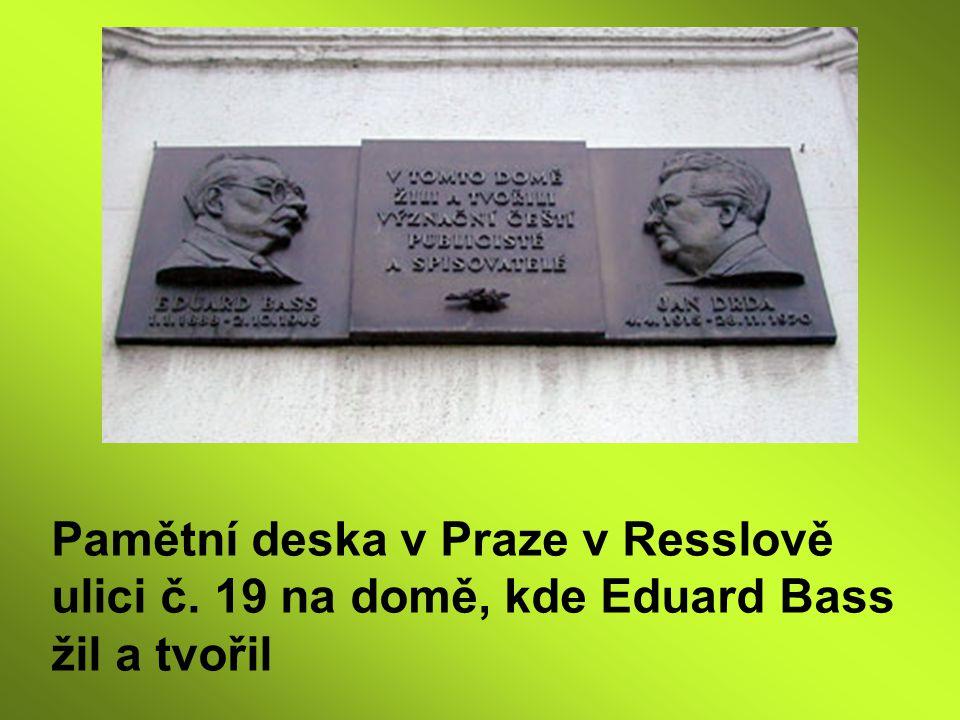 Pamětní deska v Praze v Resslově ulici č