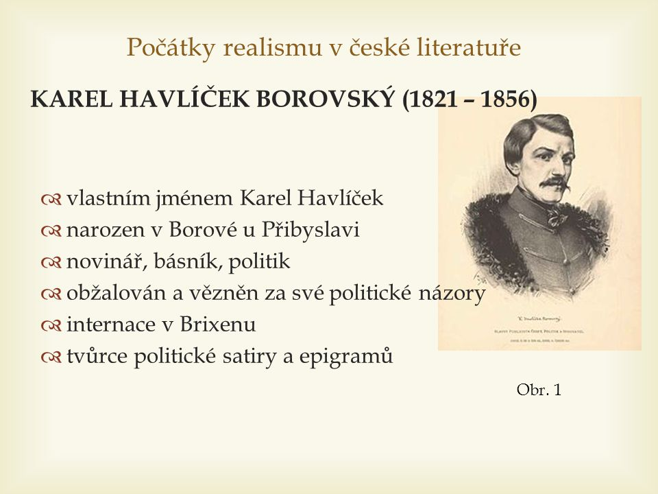 Počátky realismu v české literatuře
