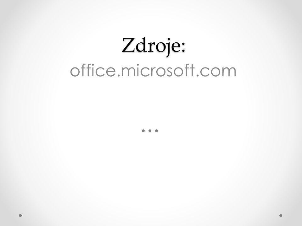 Zdroje: office.microsoft.com