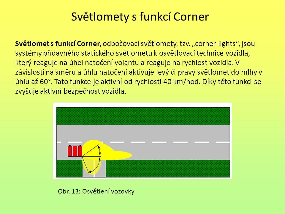 Světlomety s funkcí Corner