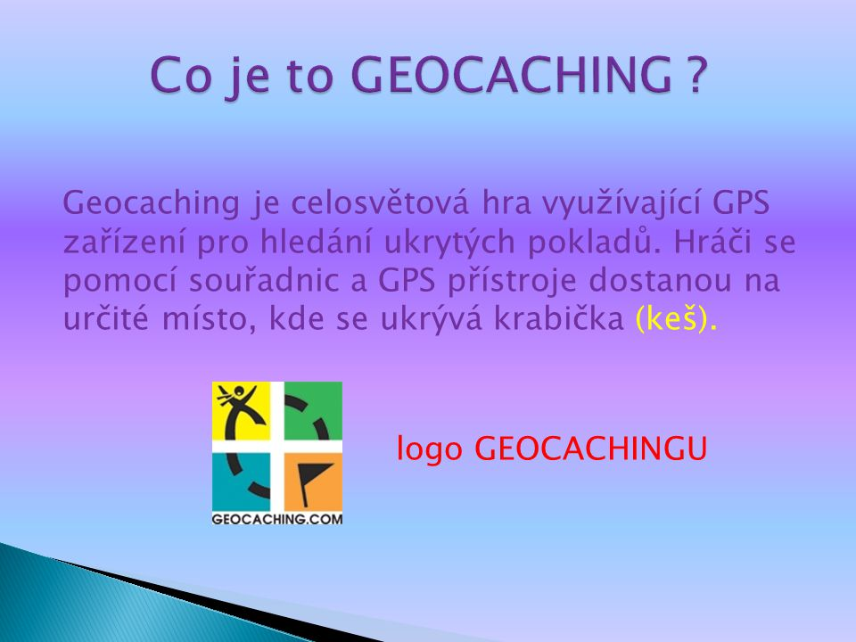 Co je to GEOCACHING