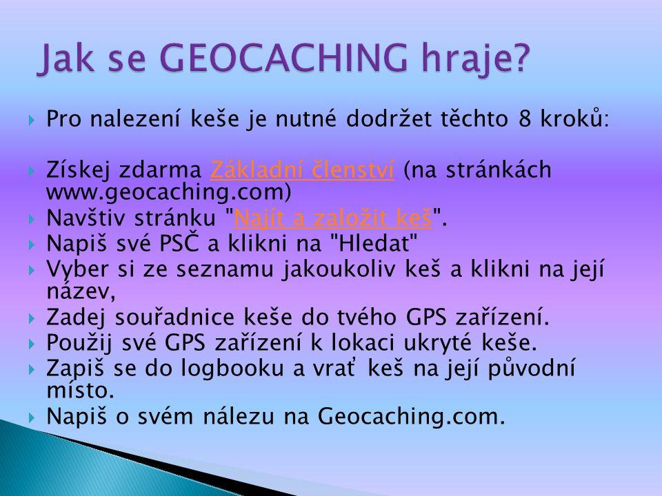 Jak se GEOCACHING hraje