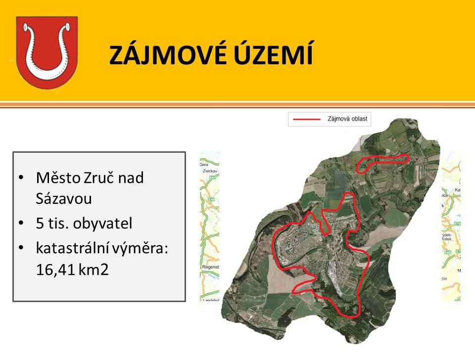 ZÁJMOVÉ ÚZEMÍ Město Zruč nad Sázavou 5 tis. obyvatel