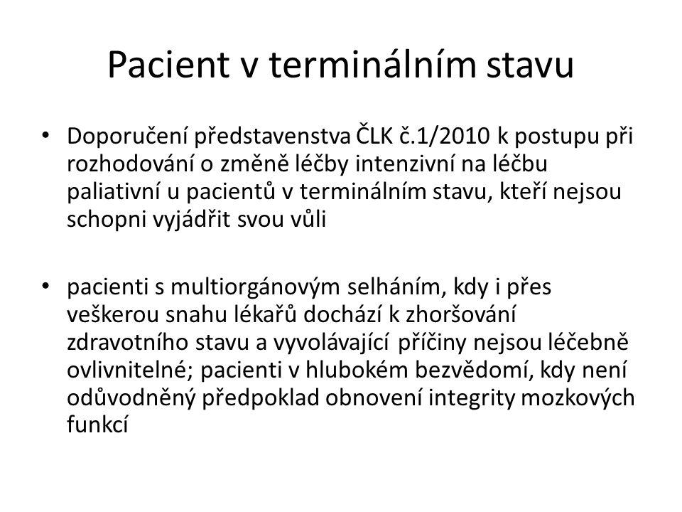 Pacient v terminálním stavu