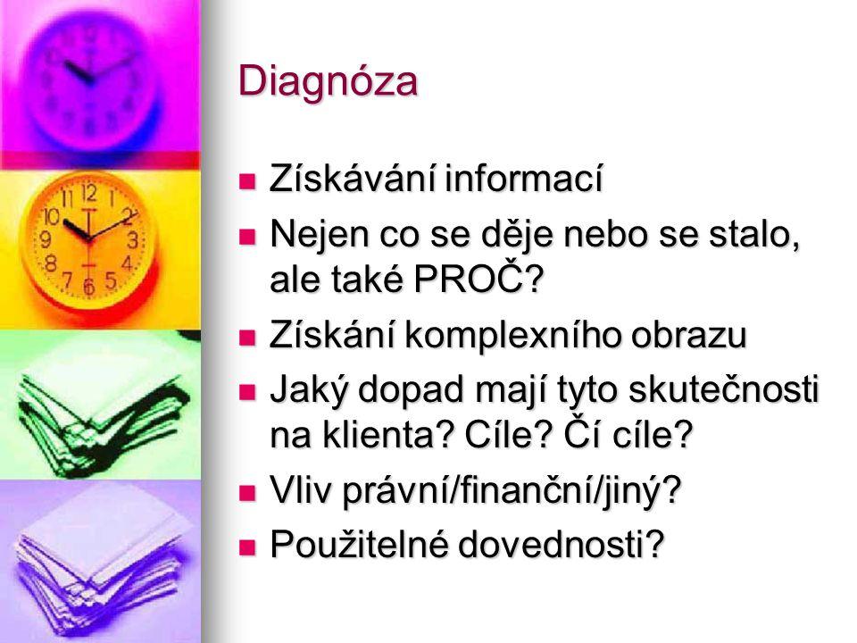 Diagnóza Získávání informací