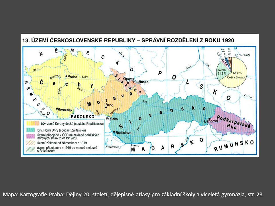Mapa: Kartografie Praha: Dějiny 20