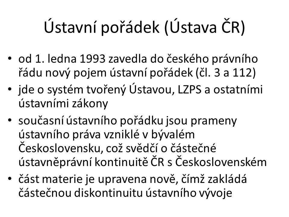 Ústavní pořádek (Ústava ČR)