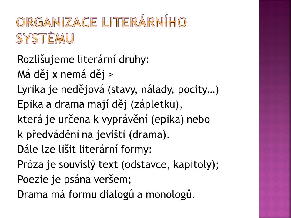 Organizace literárního systému