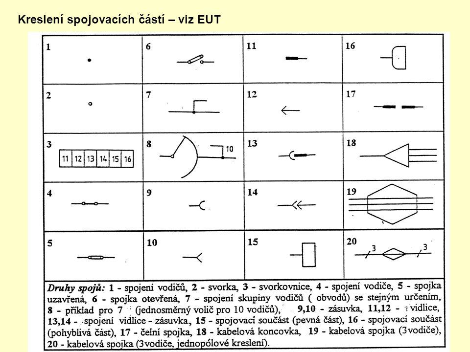 Kreslení spojovacích částí – viz EUT