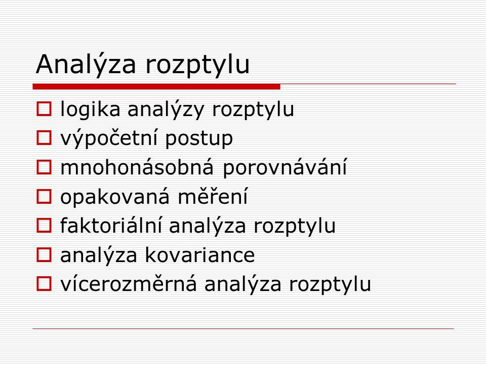 Analýza rozptylu logika analýzy rozptylu výpočetní postup