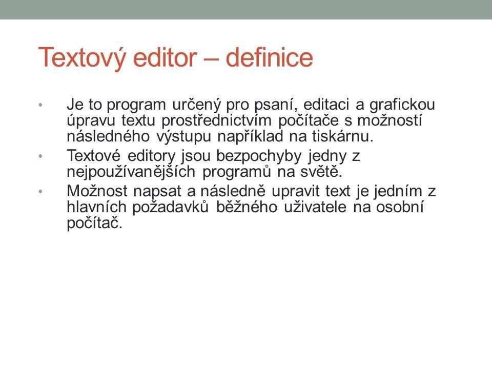 Textový editor – definice