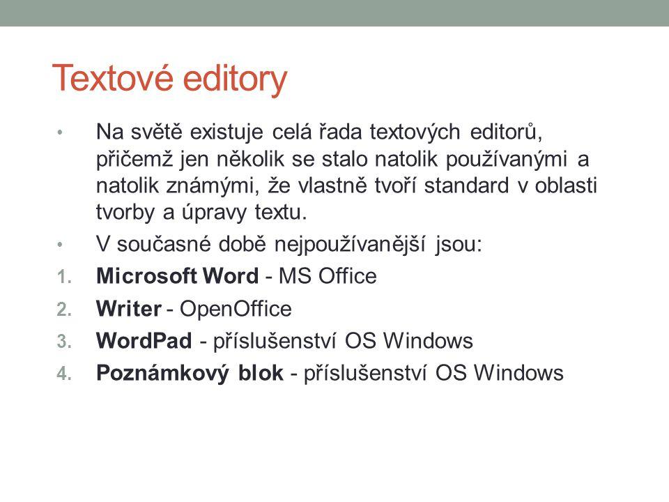 Textové editory