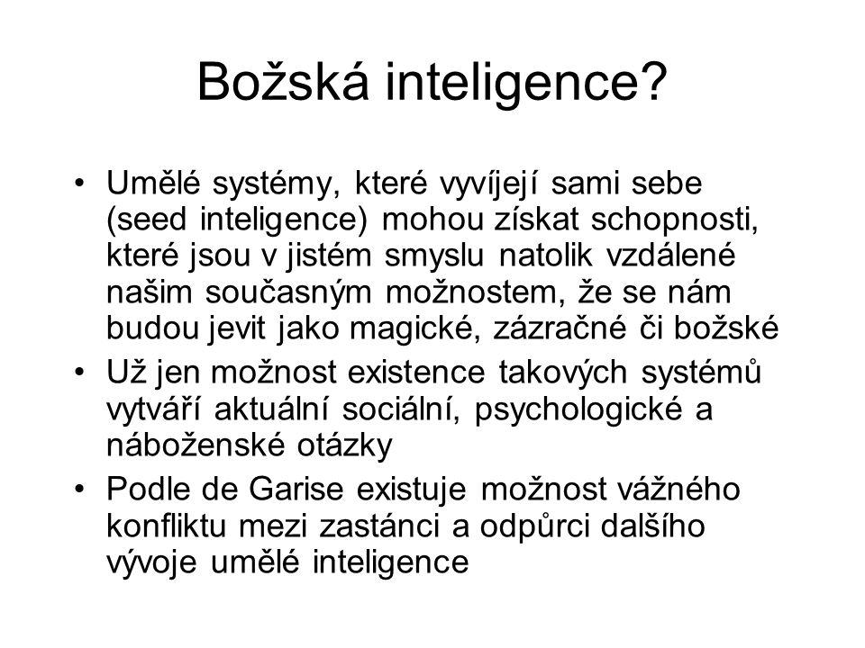 Božská inteligence