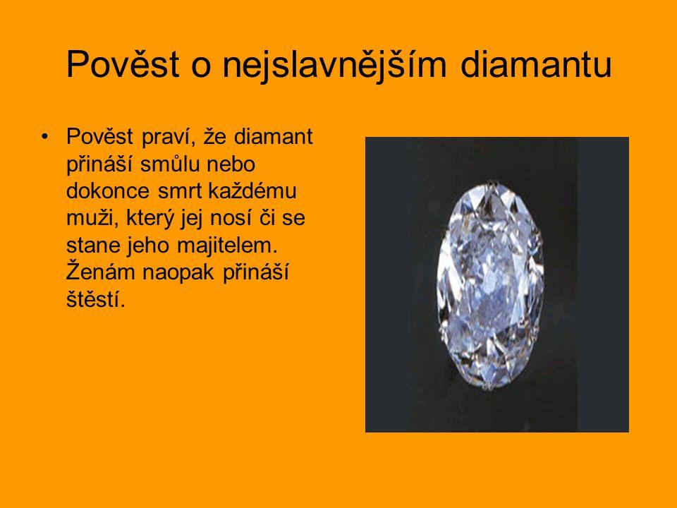 Pověst o nejslavnějším diamantu