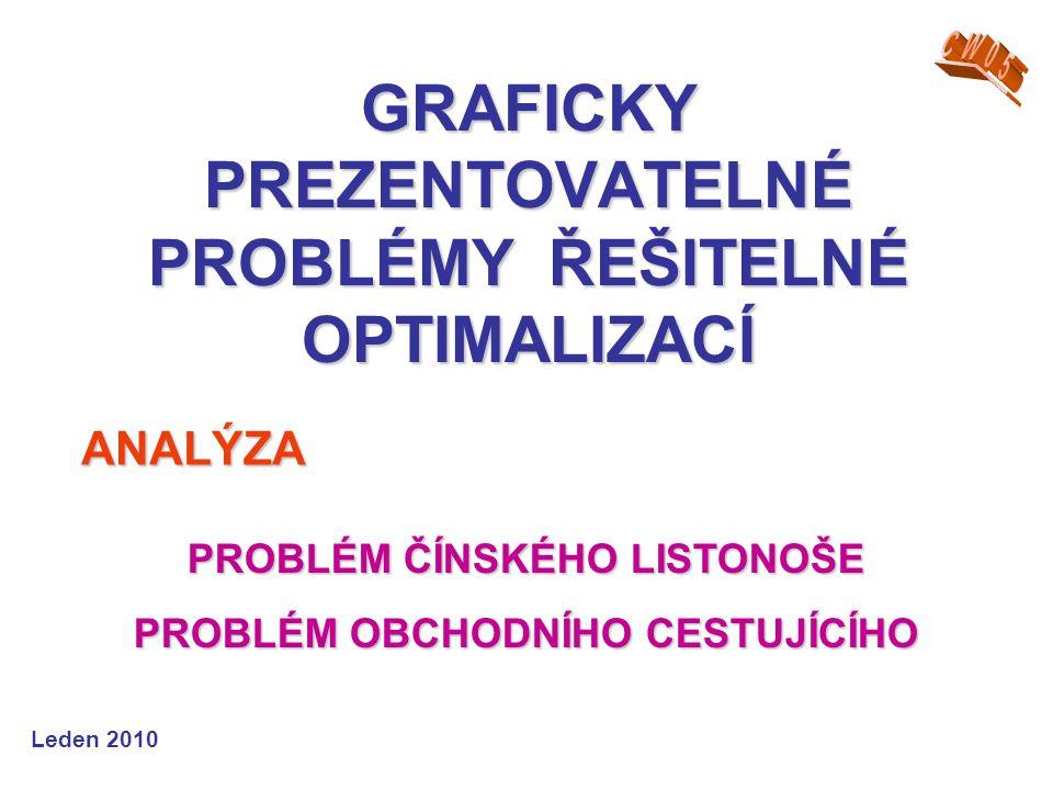 GRAFICKY PREZENTOVATELNÉ PROBLÉMY ŘEŠITELNÉ OPTIMALIZACÍ