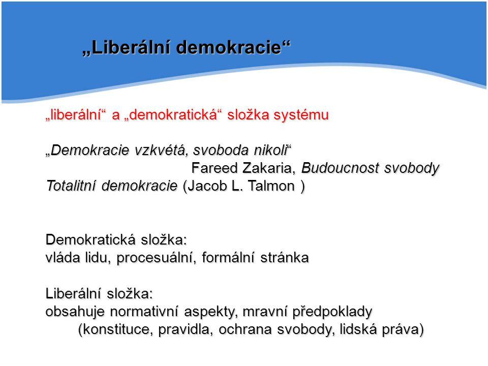 """""""Liberální demokracie"""