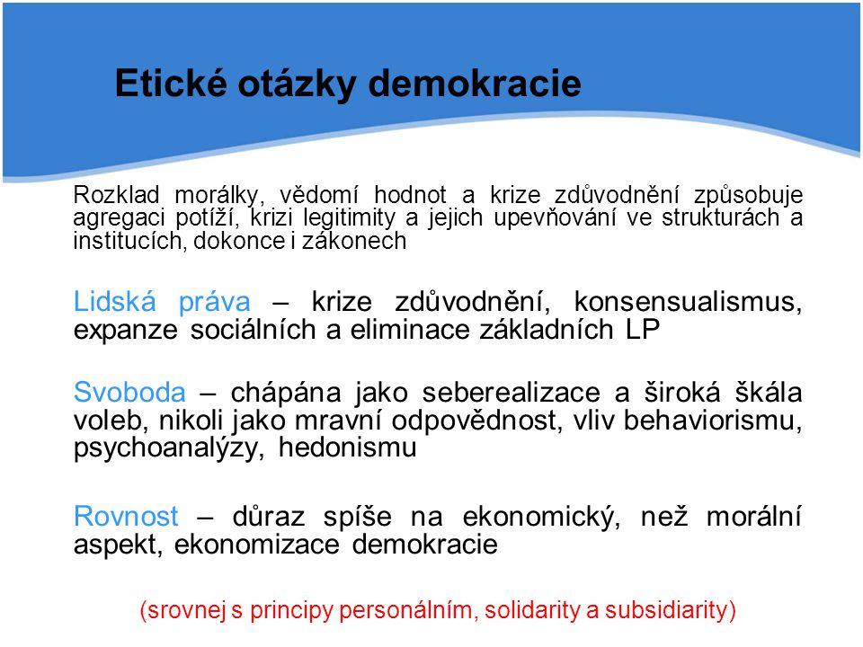 Etické otázky demokracie