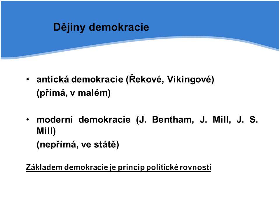 Dějiny demokracie antická demokracie (Řekové, Vikingové)