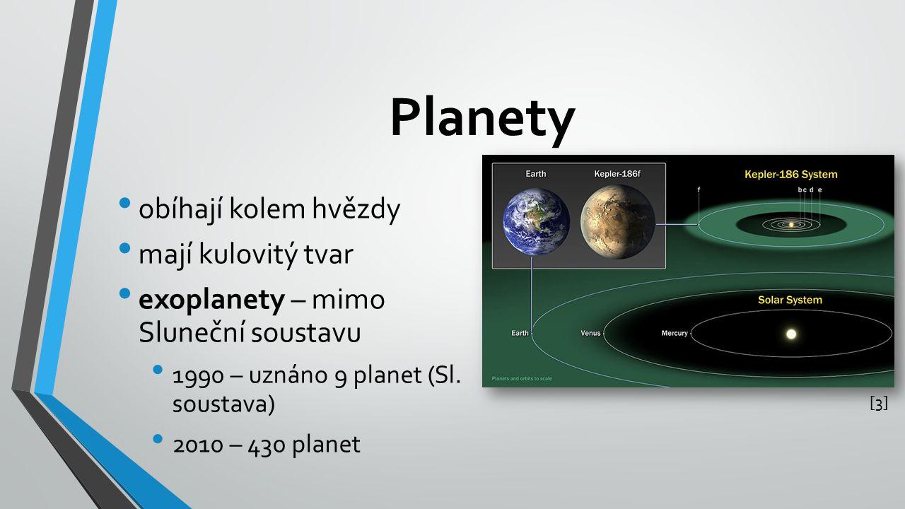 Planety obíhají kolem hvězdy mají kulovitý tvar