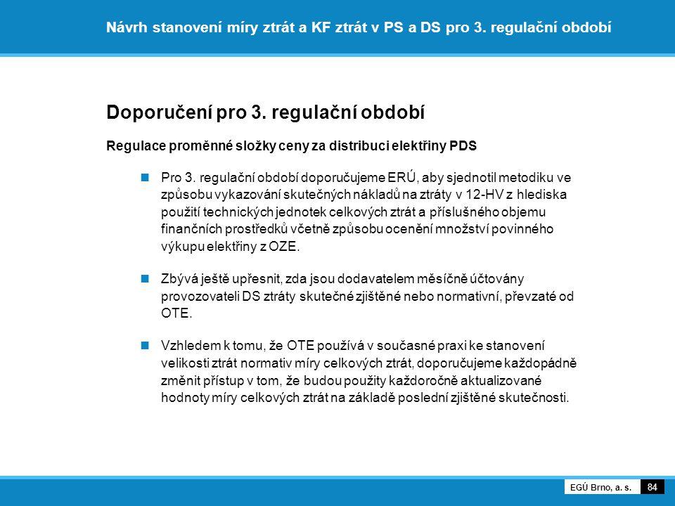 Doporučení pro 3. regulační období
