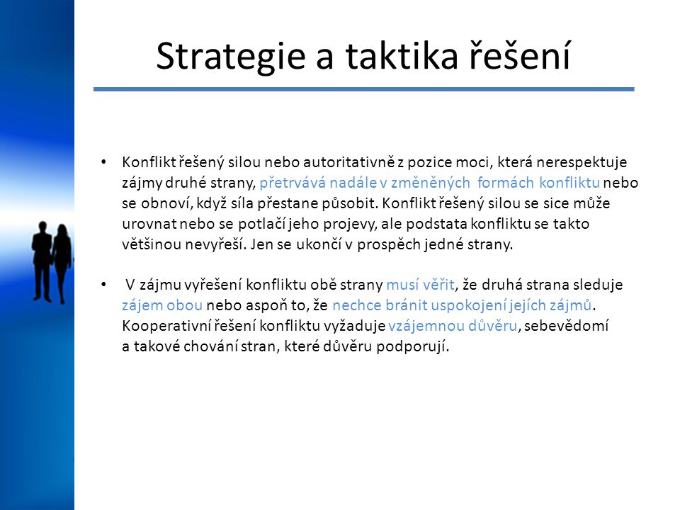 Strategie a taktika řešení