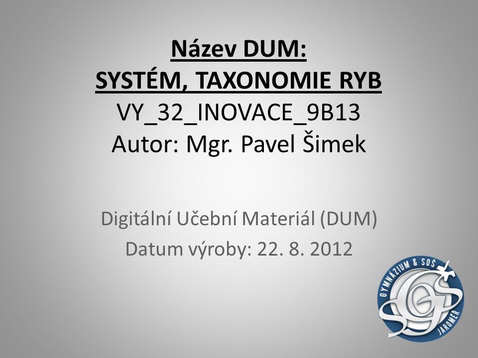 Digitální Učební Materiál (DUM) Datum výroby: 22. 8. 2012