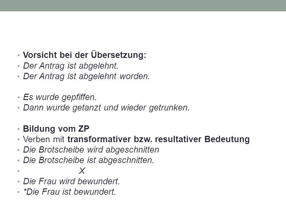 Vorsicht bei der Übersetzung: