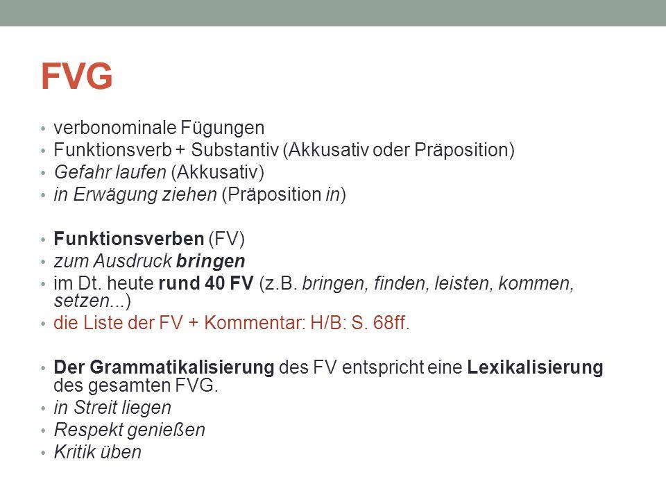 FVG verbonominale Fügungen