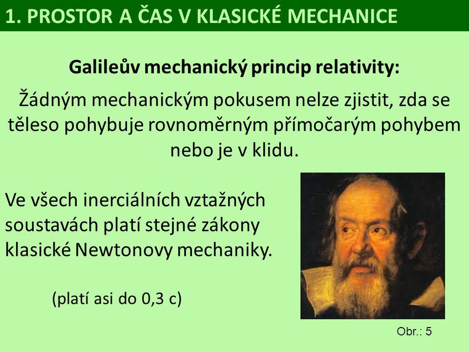 Galileův mechanický princip relativity: