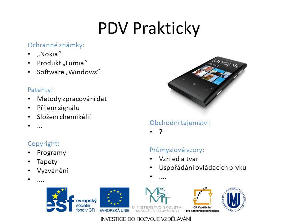"""PDV Prakticky Ochranné známky: """"Nokia Produkt """"Lumia"""